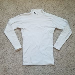 Under Armour White Long Sleeve Turtle Neck